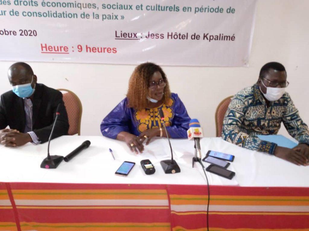 COVID-19 et les DESC : différents acteurs des communautés à la base sensibilisés par la CNDH du Togo sur les droits économiques, sociaux et culturels et la consolidation de la paix