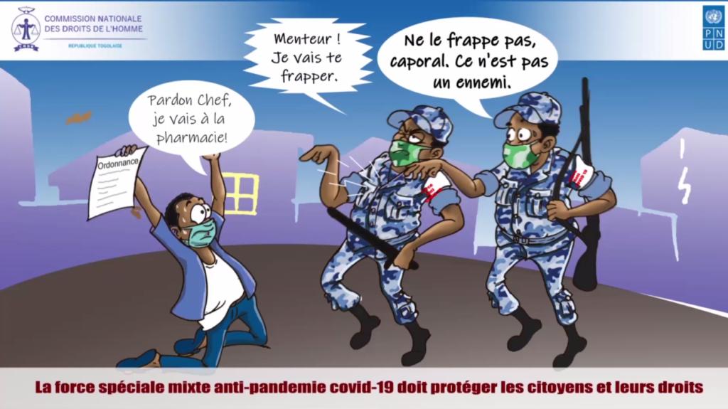 Sensibilisation de la CNDH au respect des droits de l'Homme en période de couvre-feu