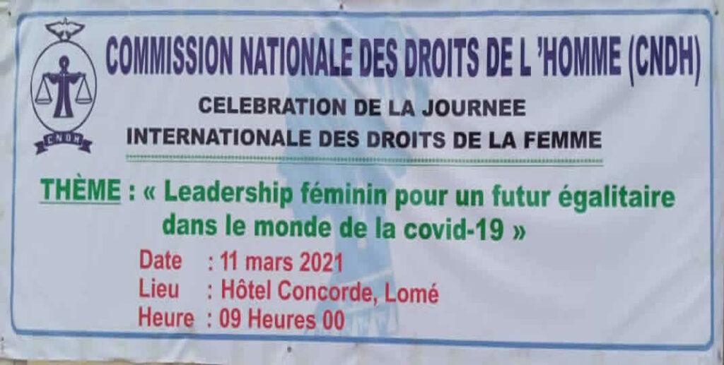 Journée de la femme : les femmes syndicalistes et le personnel féminin de la CNDH du Togo sensibilisés sur le leadership féminin